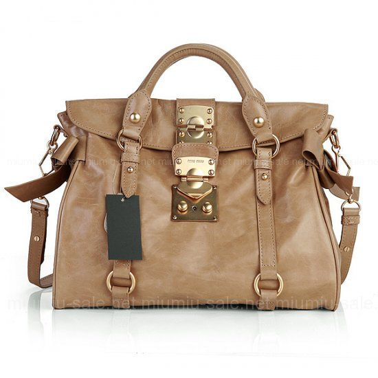 89a4d3084207 Apricot Bow Embellished Glossed Leather Slouchy Totes