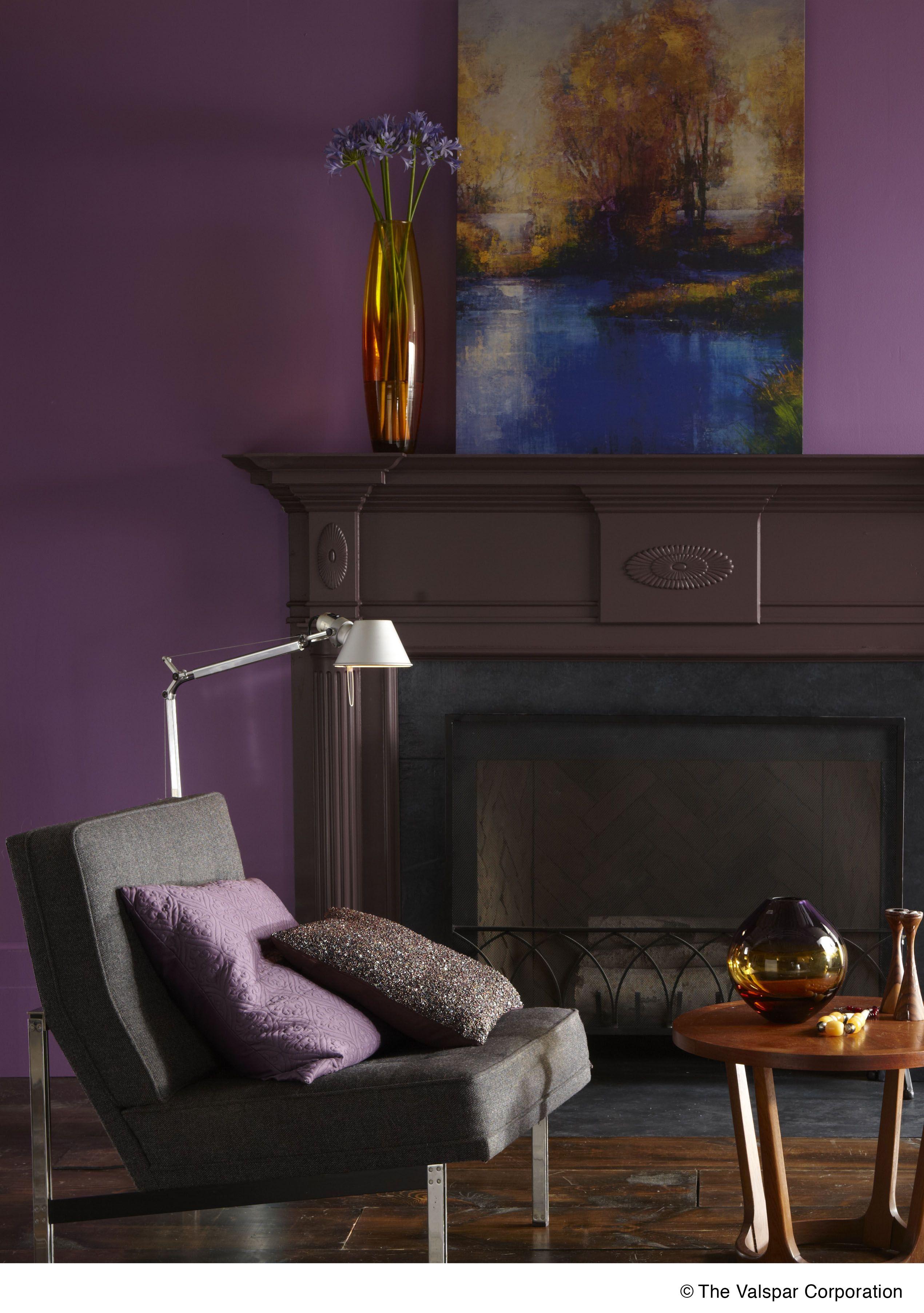Calm And Cozy Valspar Regal Plum 1002 7a Paint Purple