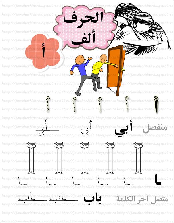 لبيب و لبيبة ورقة عمل أشكال الحرف ألف Arabic Alphabet Letters Arabic Kids Learn Arabic Alphabet