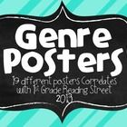 The Genre Posters are a fun way to brighten up your classroom.  The 19 posters align perfectly with 1st Grade Reading Street 2013