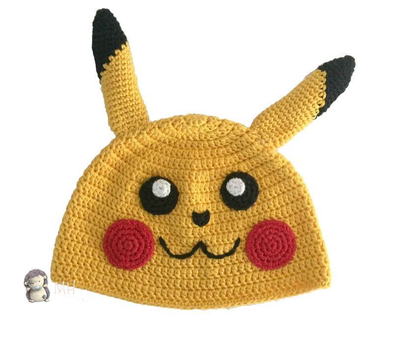 Gorro Pikachu a crochet | Amigurumis | Pinterest | Pikachu, Gorros y ...