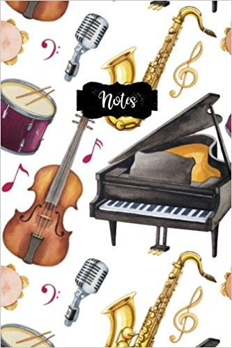 Notes 120 Blank Lined Page Softcover Music Notes Journal, College - lined page