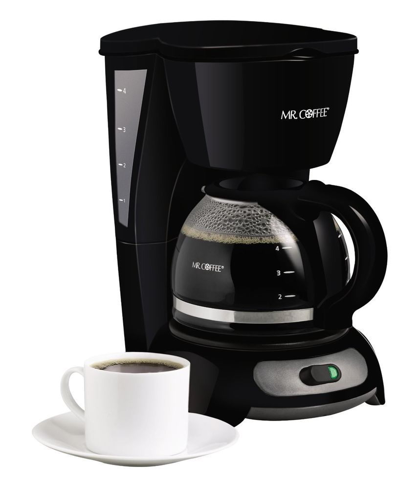 Mr coffee 4 cup switch filter new black coffeemaker