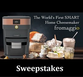 Fromaggio Cheese Maker Giveaway Win Smart Home Cheesemaker 485