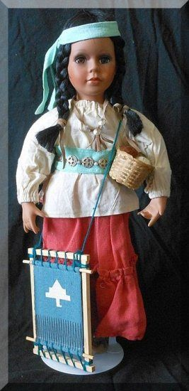 Native American Porcelain Doll #indianbeddoll