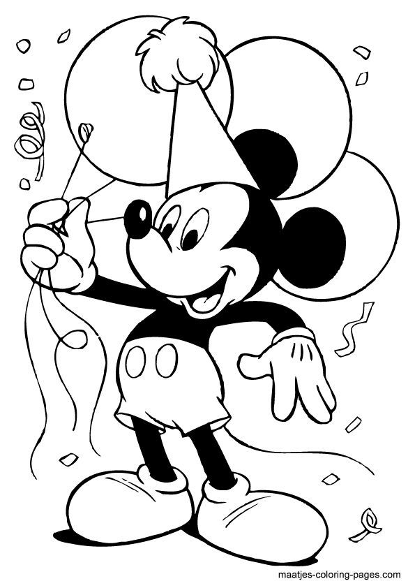 - Mickey Mouse Free Printable Coloring Pages Overview 1 Mickey Mouse Coloring  Pages, Happy Birthday Coloring Pages, Birthday Coloring Pages