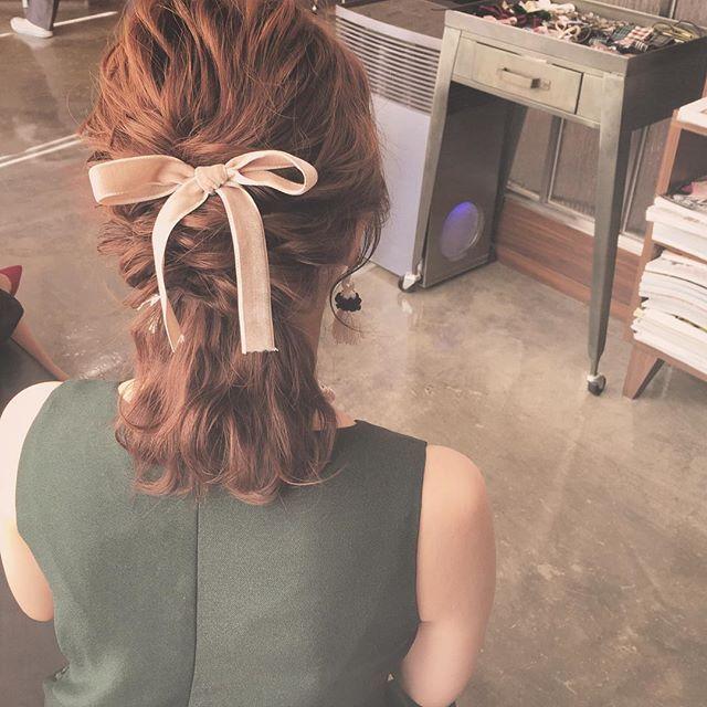短めのハーフアップ Rumi ヘアアレンジ Hair Arrange Medium