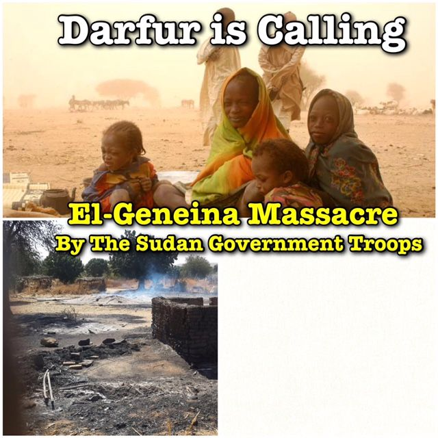 Darfur Union in the UK - From Central to West Darfur, Same Crime Different Day; El-Geneina is the Crime Scene This Time