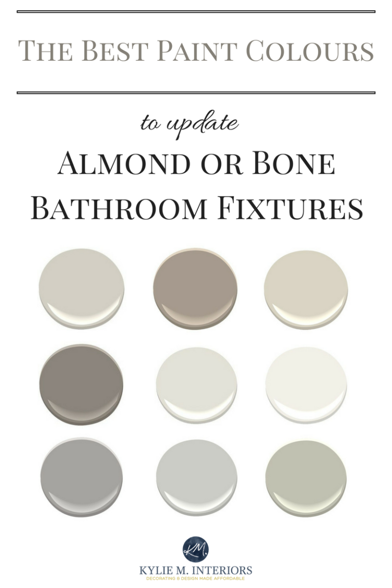 The Best Paint Colours To Update A Bathroom With Almond Or Bone