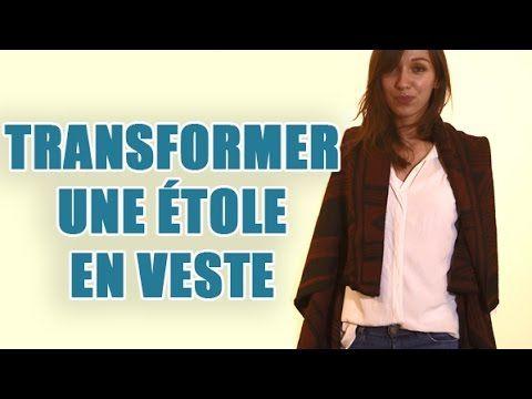 Transformer une étole en veste - DIY - Conseils Couture - YouTube