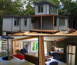 Mini maison conteneur tiny house chalet et autres for Conteneur habitable a vendre