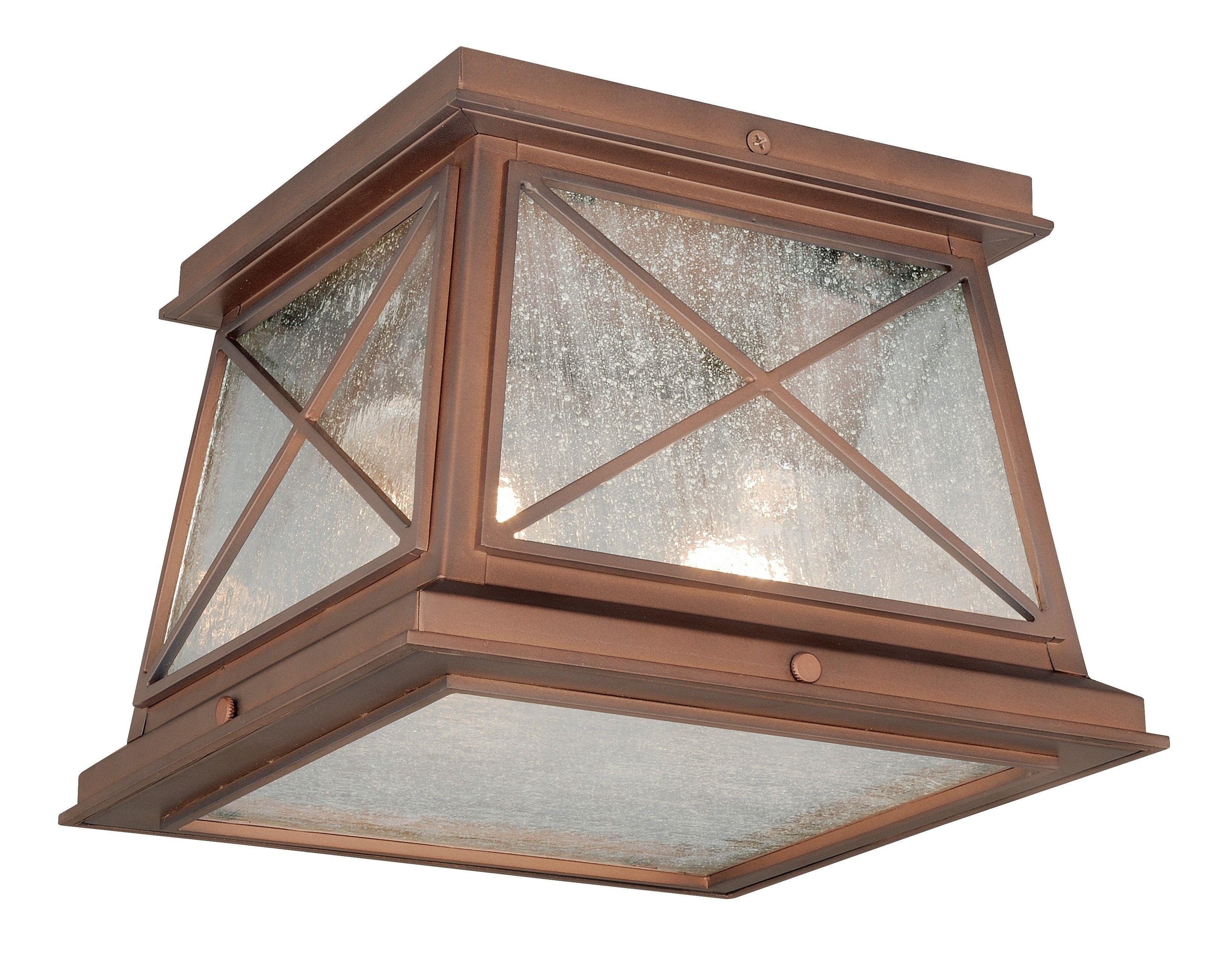 Vaxcel Lighting T0065 Mackinac 9 Outdoor Flush Mount Antique Red Copper Outdoor Flush Mounts Copper Outdoor Lighting Outdoor Ceiling Lights