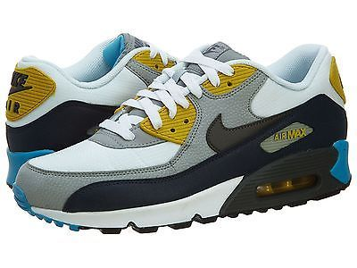 Nike Air Max 90 Essential Mens 537384 107 Grey Black Blue