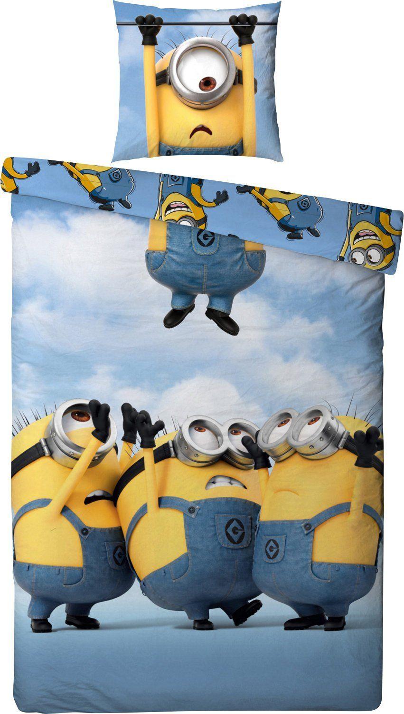 Kinder Renforcé Bettwäsche Minions Blau 135x200 cm Ich einfach unverbesserlich