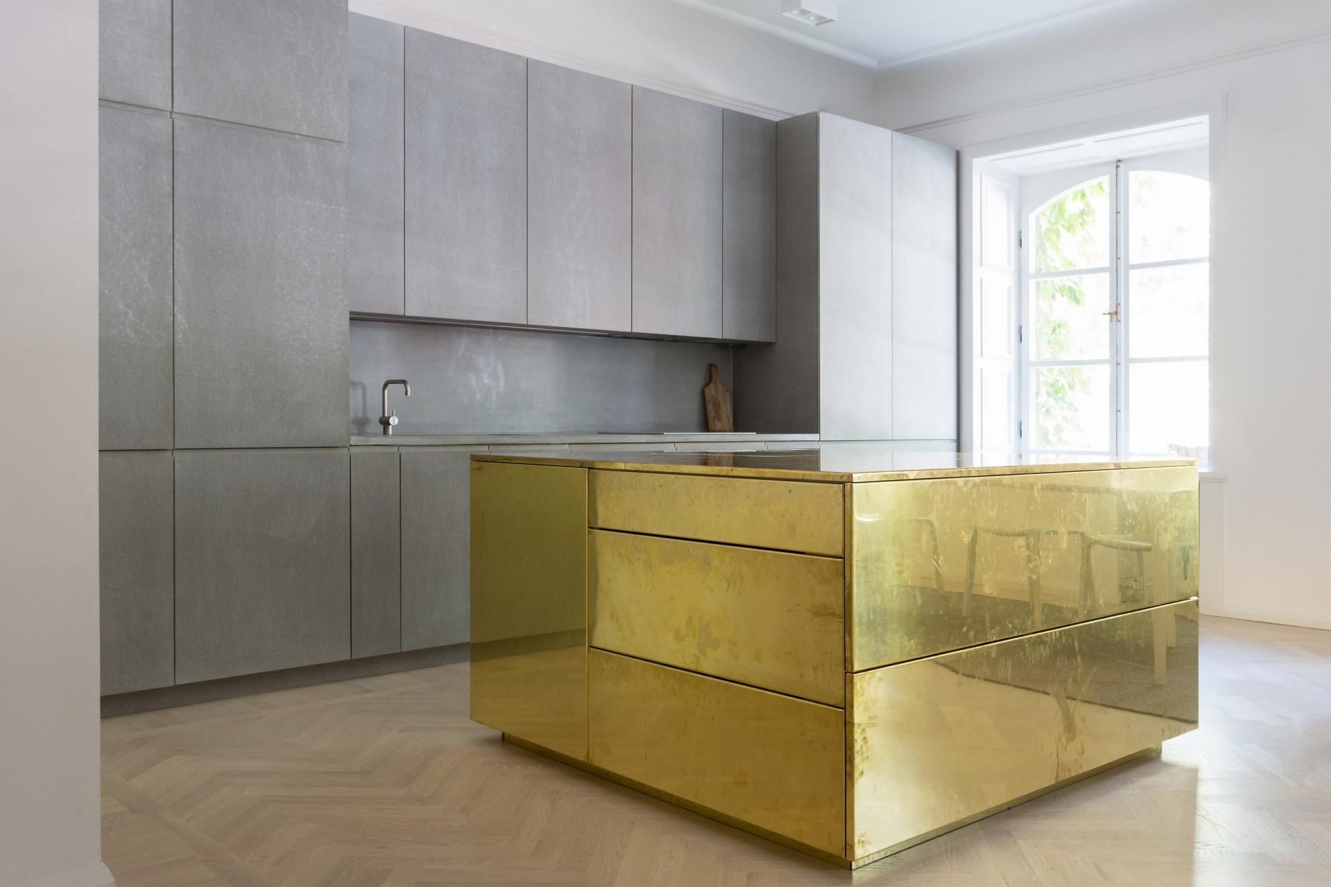 GOLD & GRAY APARTMENT STOCKHOLM by Richard Lindvall as Designers ...