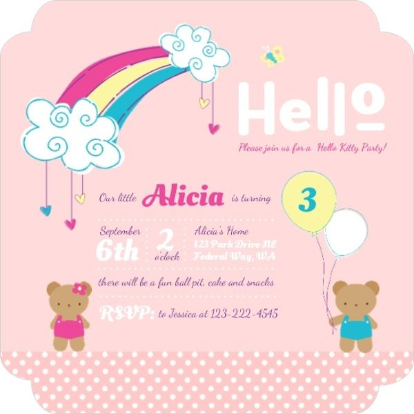 Cute Pastel Rainbow Birthday Party Invitation by PurpleTrail - invitation quotes for freshers party