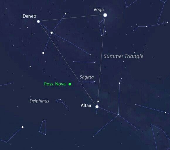 Summer Triangle Deneb Vega Altair The Brightest