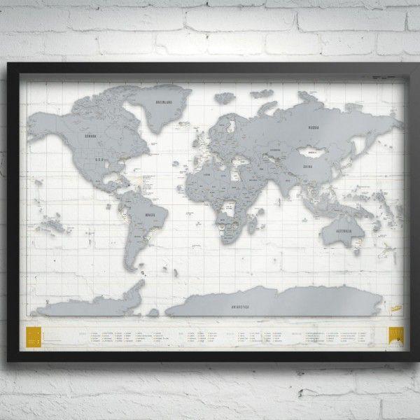 carte monde a gratter transparente #world #map #globe #deco