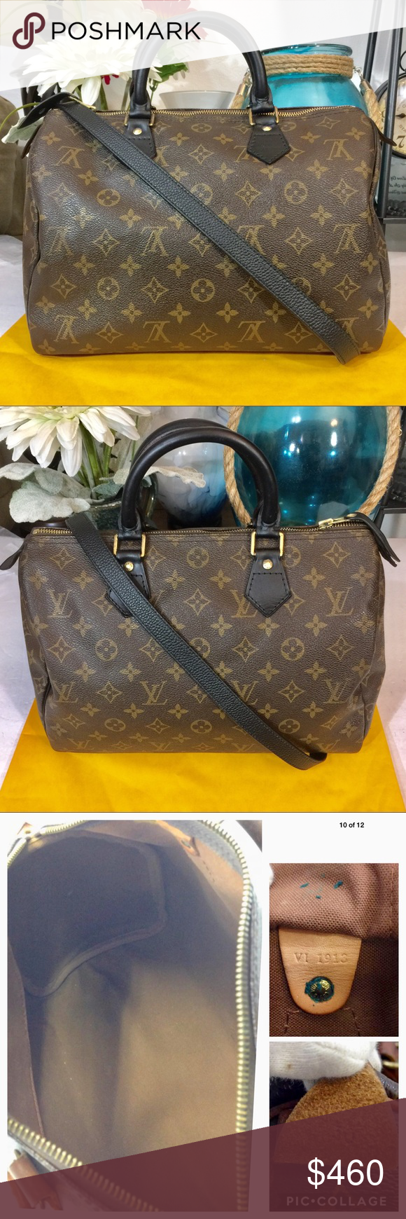 6765053f617a Louis Vuitton Speedy 30 Boston Handbag 👜 Black Very good condition Custom  Dyed and detailed leather