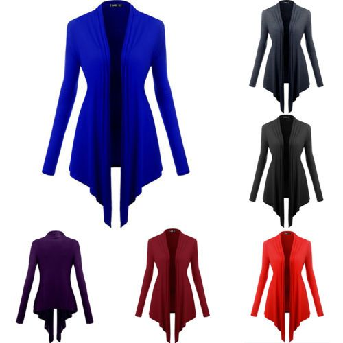 Womens-Ladies-Waterfall-Cotton-Drape-Long-Cardigan-Plus-Sizes-Top-Sweater-Coat