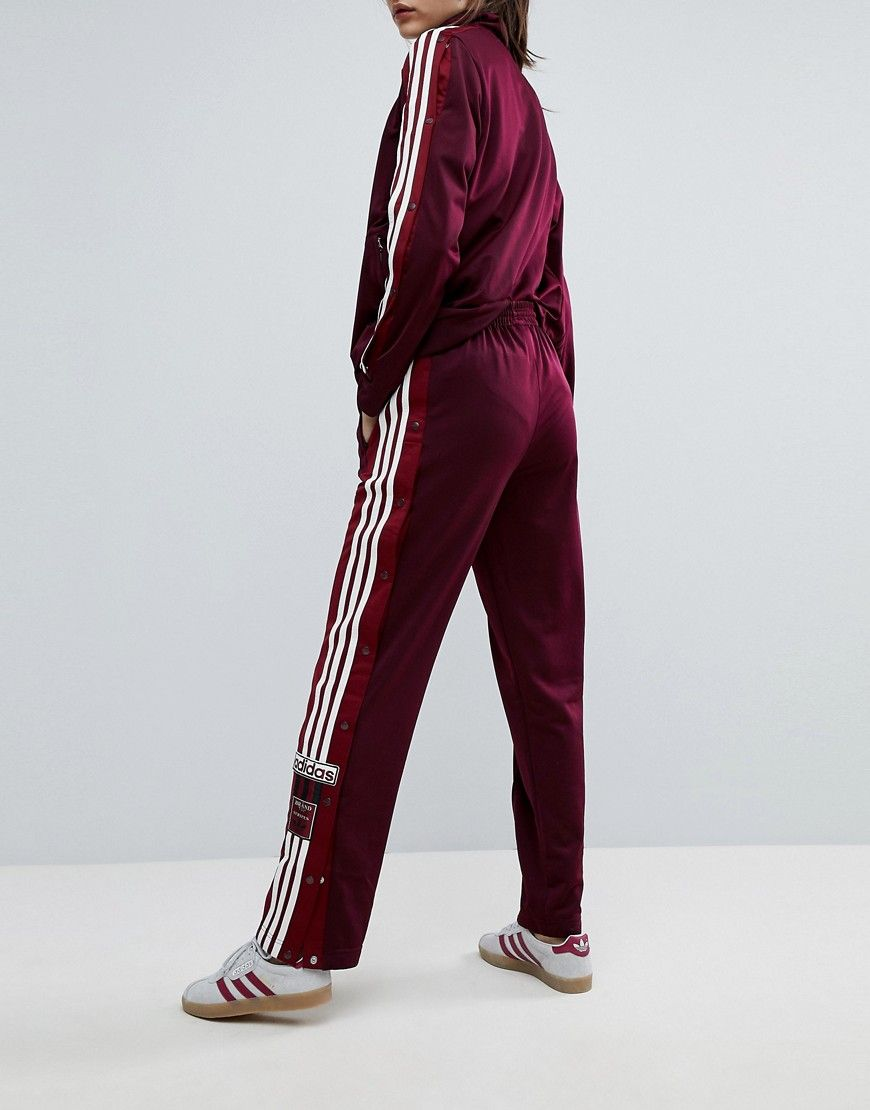 07767ee2541 adidas Originals Adibreak Popper Track Pants In Maroon in 2019 ...