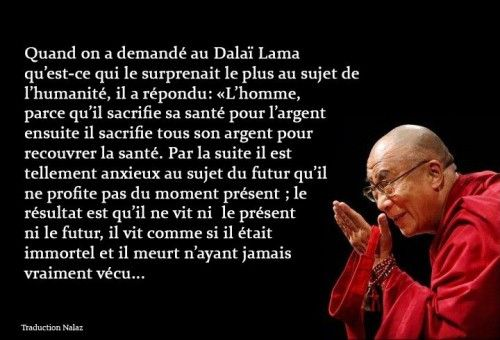 Chine Citation Proverbe Dalai Lama Boudhisme Tibétain