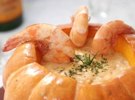 Photo of Pumpkin with Shrimp or Camarao na Moranga. This other site also has a great reci…