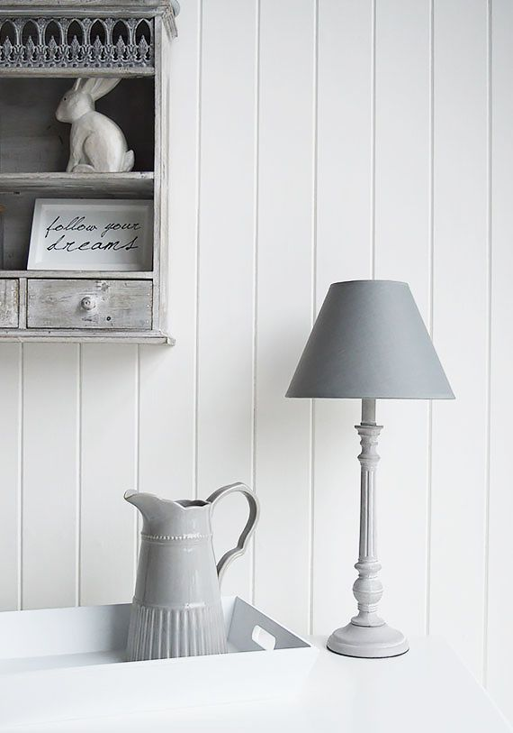 Light Grey Bedside Table: White And Grey Living Room Accessories To Decorate Your