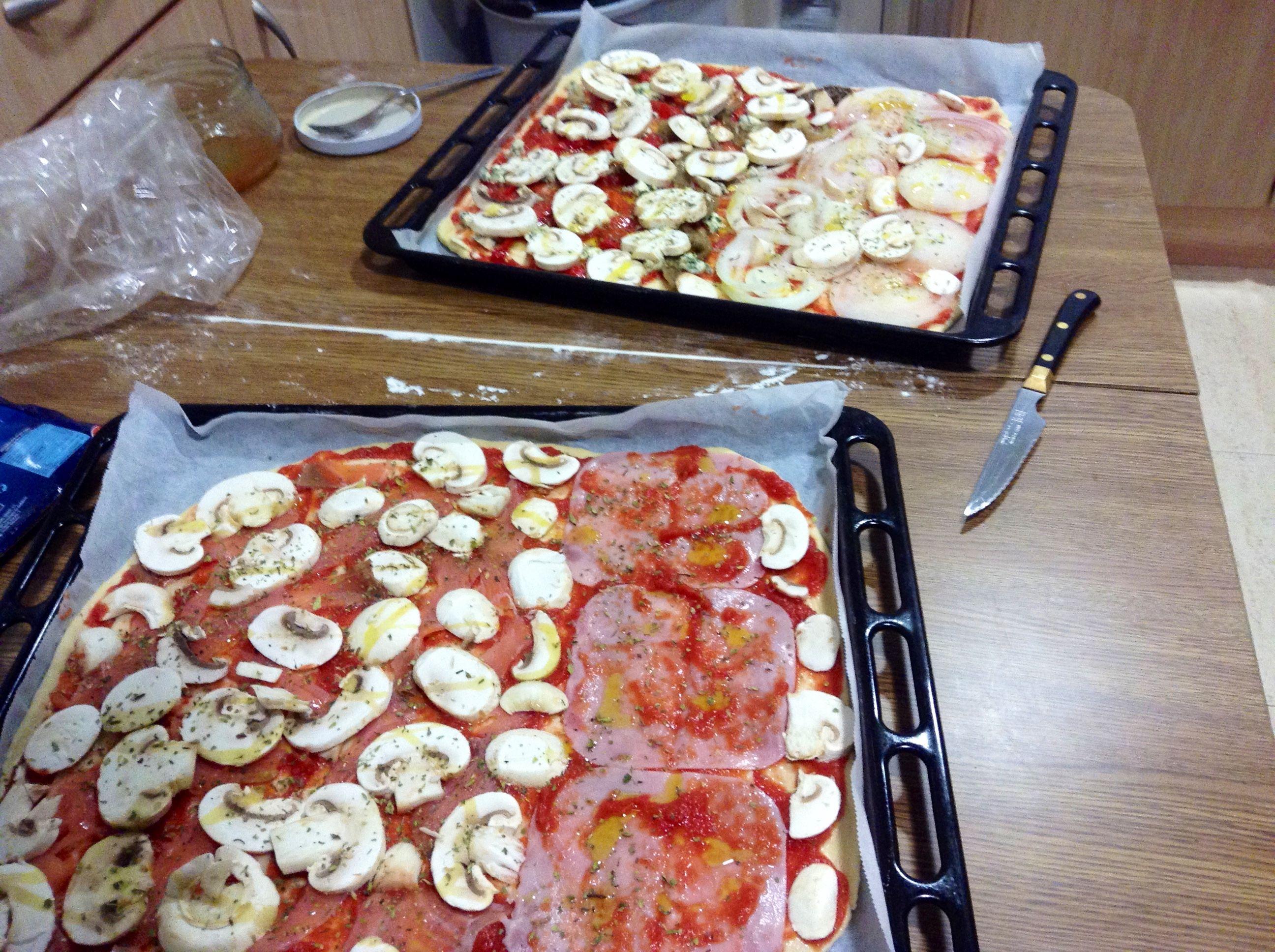 Pizzas caseras