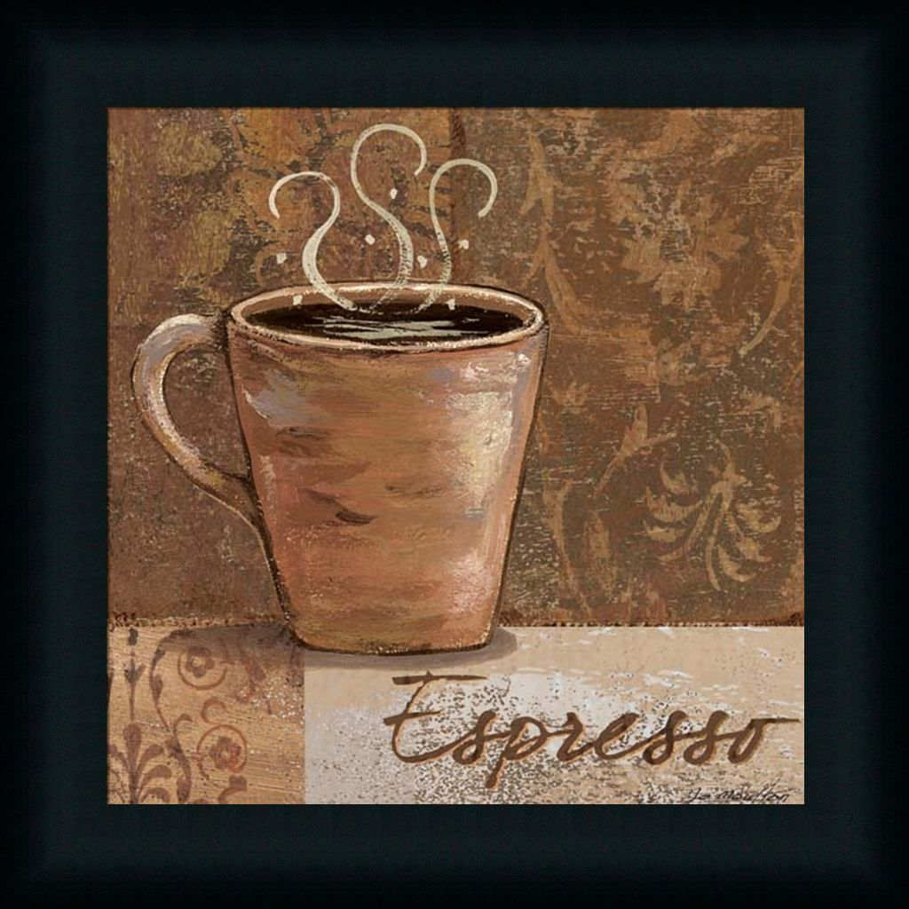 Details About Espresso By Jo Coffee Sign Kitchen D Cor Framed Art Print Wall D Cor Picture