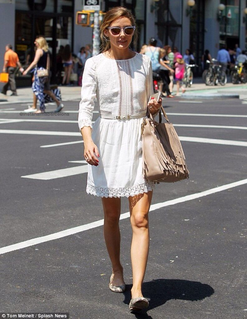 June 26 2014 - Olivia Palermo steps out in lacy white frock days after obtaining marriage license with fiance
