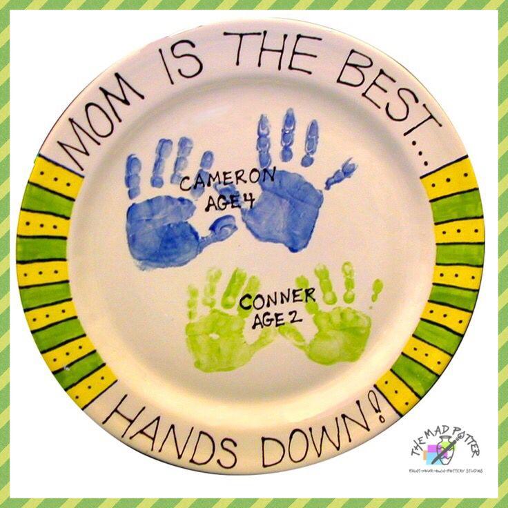 Ceramic pottery handprint and footprint ideas handprints for Handprint ceramic plate ideas