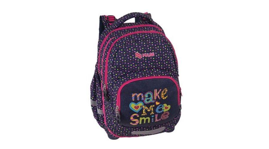177dab94adeb Pulse iskolatáska 2i1 Kids Smile rózsaszín-lila - Ifjúsági hátizsák -  Iskolatáskák, iskolatáska szettek