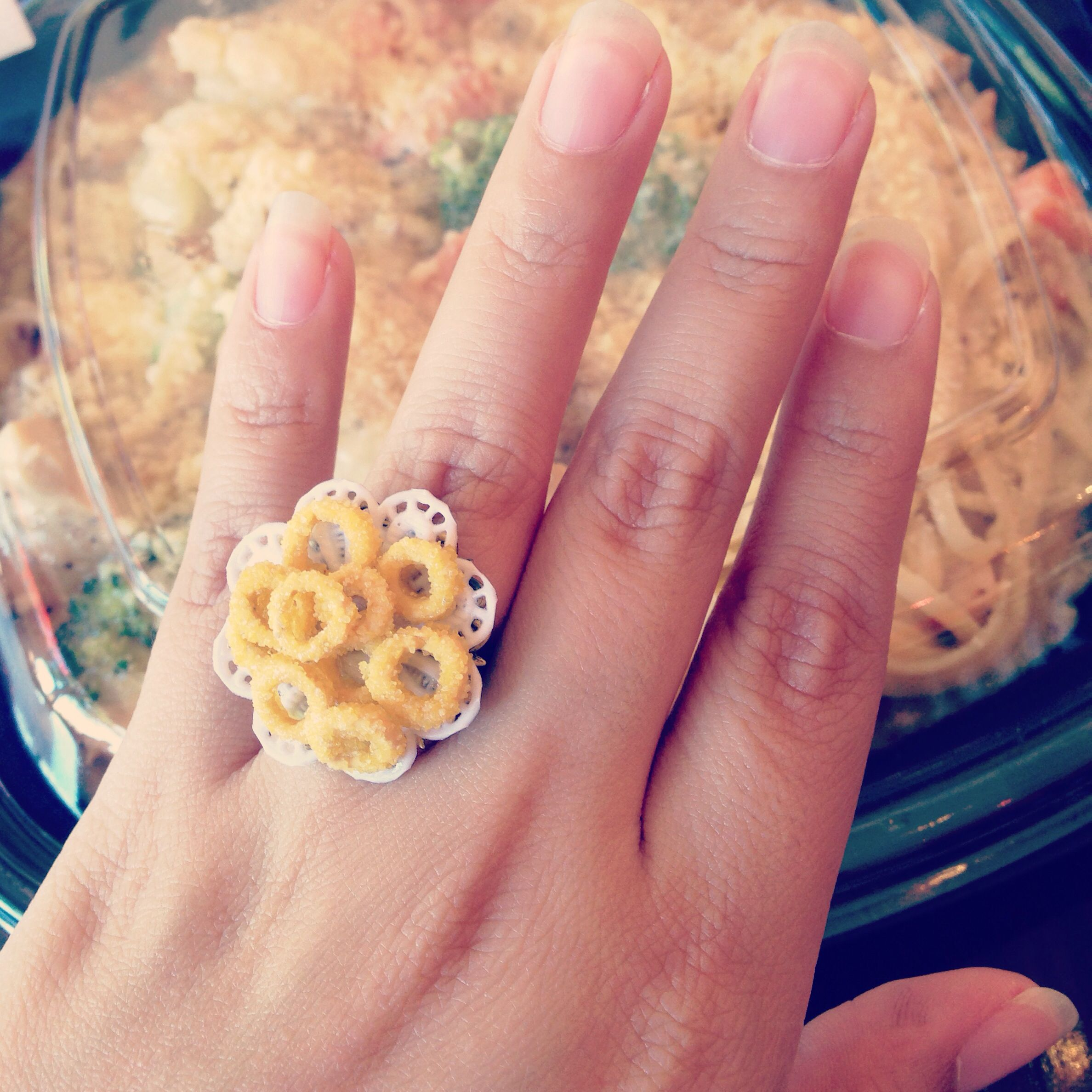 My engagement ring, The Simpsons themed.. \