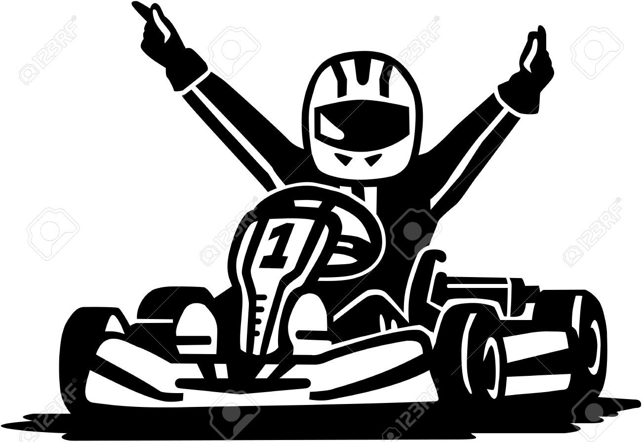 Kart Racing Winner Royalty Free Cliparts Vectors And Stock Illustration Image 51818817 Kart Racing Go Kart Racing Art