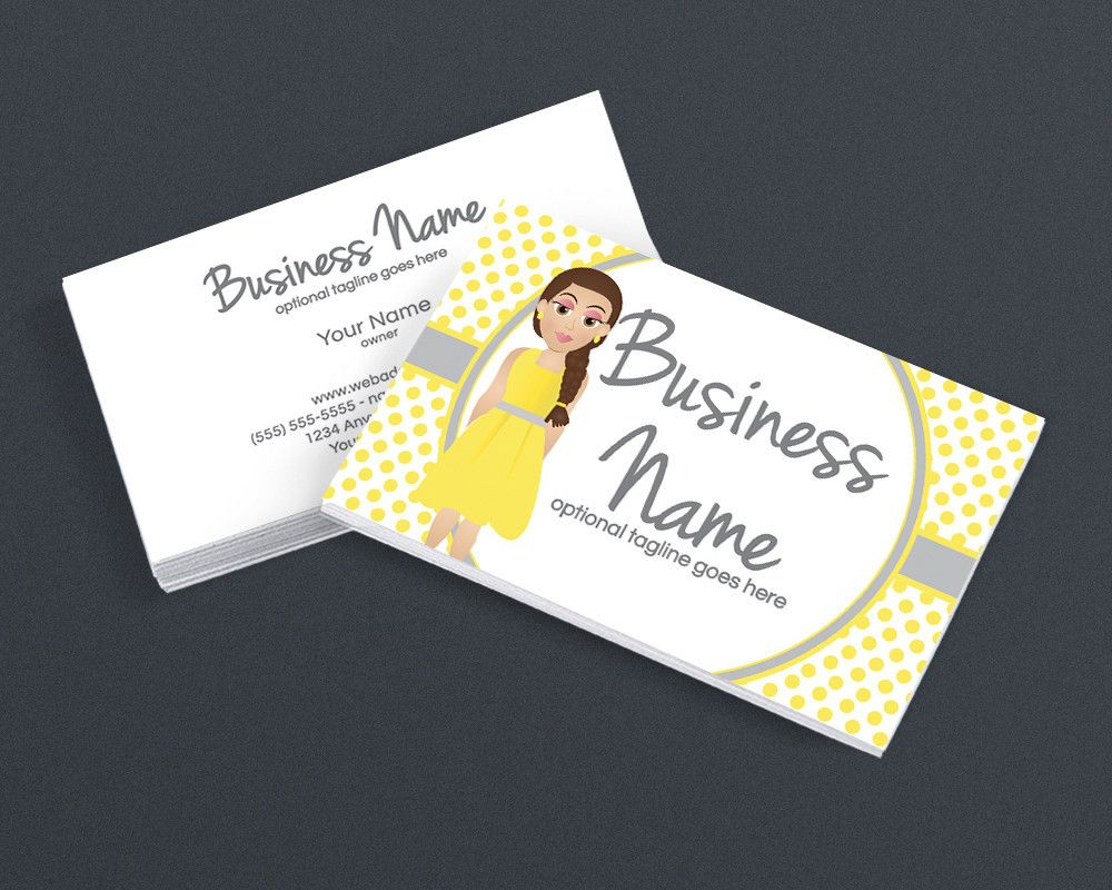 Character Four - Graceful and Charming - 2 Sided Business Card ...