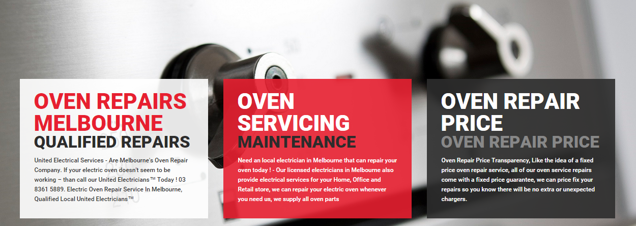United Electrical Services Vic P/L   Repair and maintenance, The unit, Oven  repair