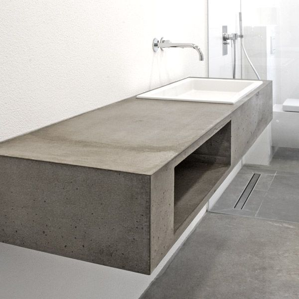Betonm bel formdimensionen concrete living raum for Bauhaus aschaffenburg