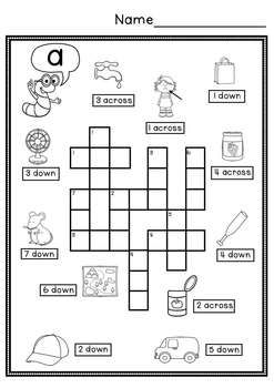 picture about Simple Crossword Puzzles Printable named CVC Uncomplicated Crossword Puzzles Coloring sheets Crossword