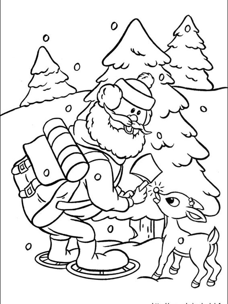Rudolph Red Nosed 63 Following This Is Our Collection Of Red Nosed Reindeer Coloring Page You Are Fre Rudolph Coloring Pages Coloring Pages Coloring Pictures