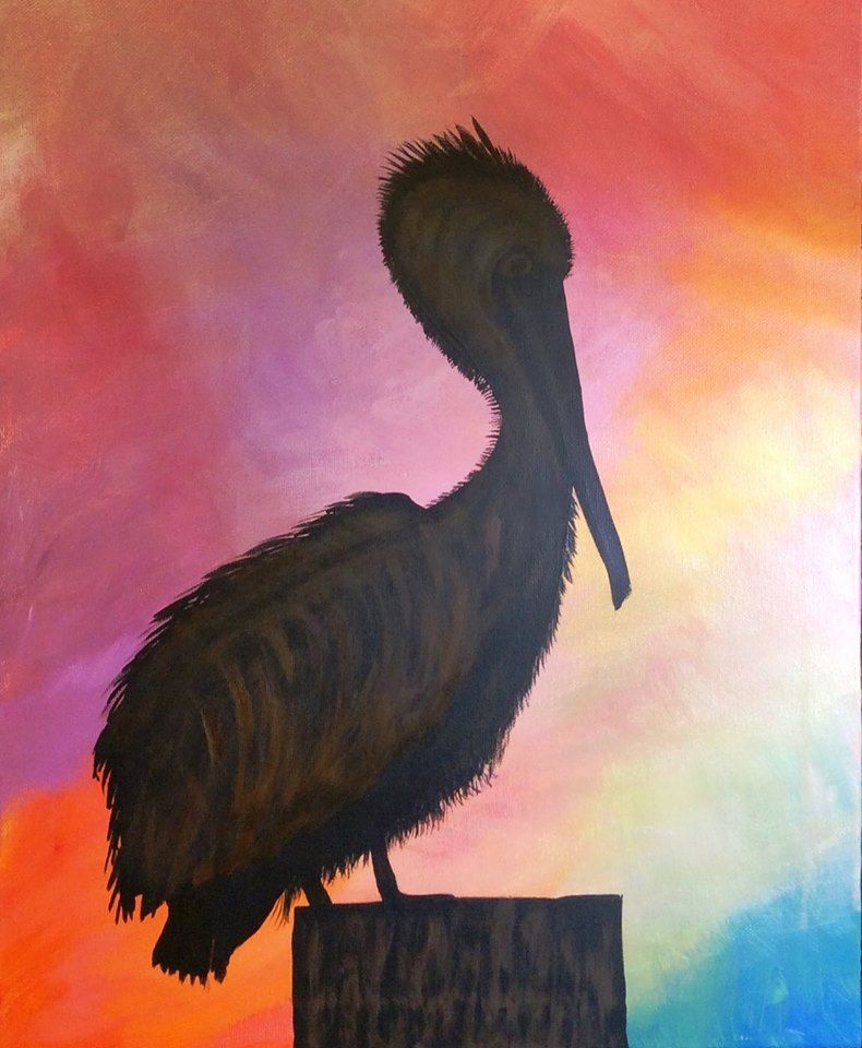 Pelican - Art by Martha Stevenson, click on link to see here work.