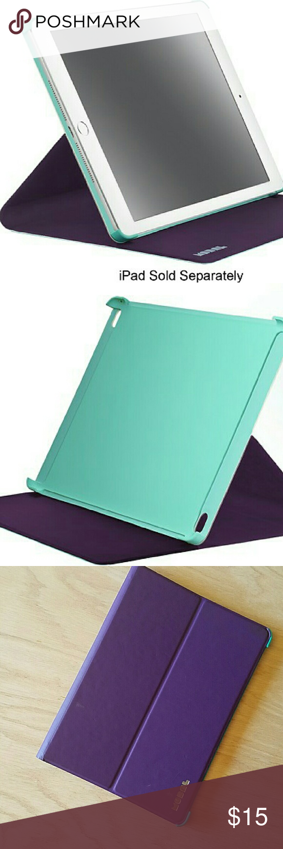 cheap for discount 1ef5a f13f6 Modal - Reversible Folio Case for Apple iPad Air 2 Purple and Mint ...