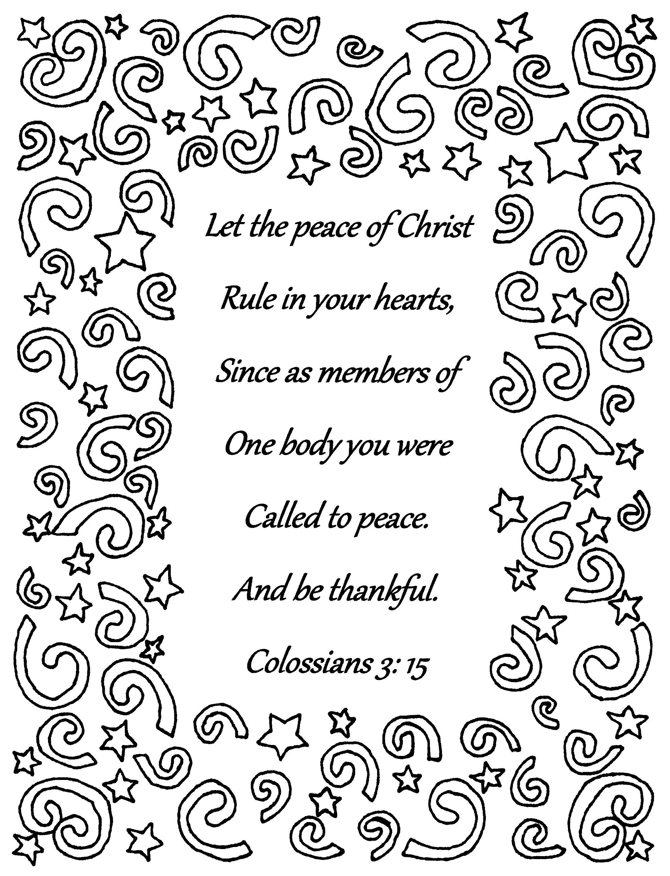 Let The Peace Of Christ Rule Colossians 3 15 Bible Verse