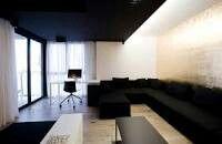 Zwart plafond voor de slaapkamer