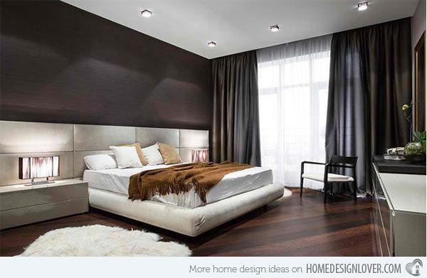 Superior 15 Dark Wood Flooring In Modern Bedroom Designs | Home Design Lover