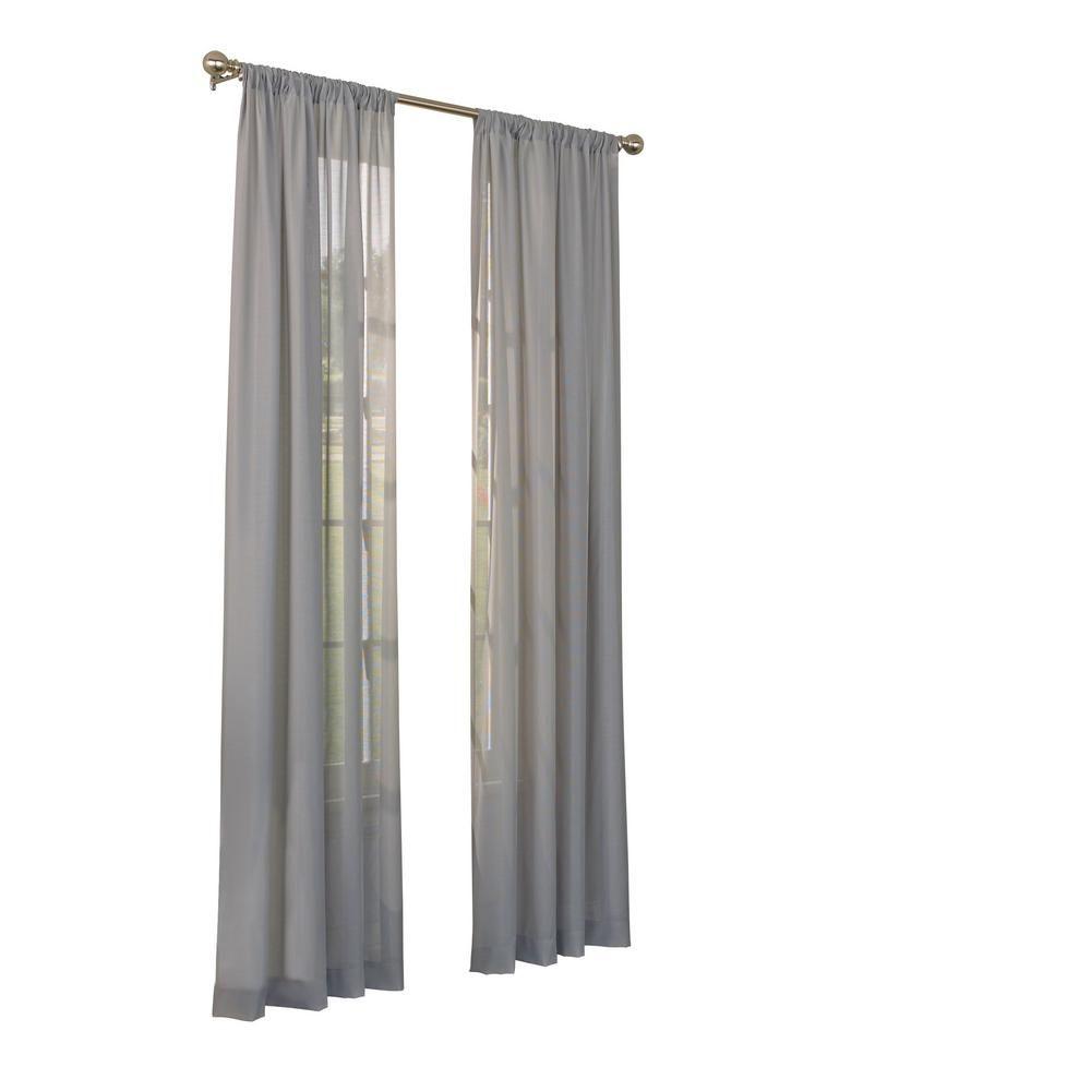 Eclipse Chelsea Uv Light Filtering Sheer Window Curtain Panel In