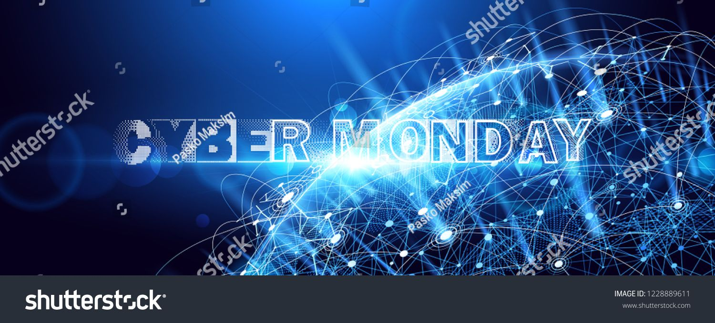 Cyber Monday Promotional Online Sale Event Vector Technology Illustration Ad Sponsored Promotional Online Cyb In 2020 Vector Technology Cyber Monday Sale Event