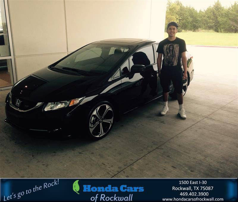 https://flic.kr/p/HpDWSj | Happy Anniversary to Cesar on your #Honda #Civic Sedan from Jim Bywater at Honda Cars of Rockwall! | deliverymaxx.com/DealerReviews.aspx?DealerCode=VSDF