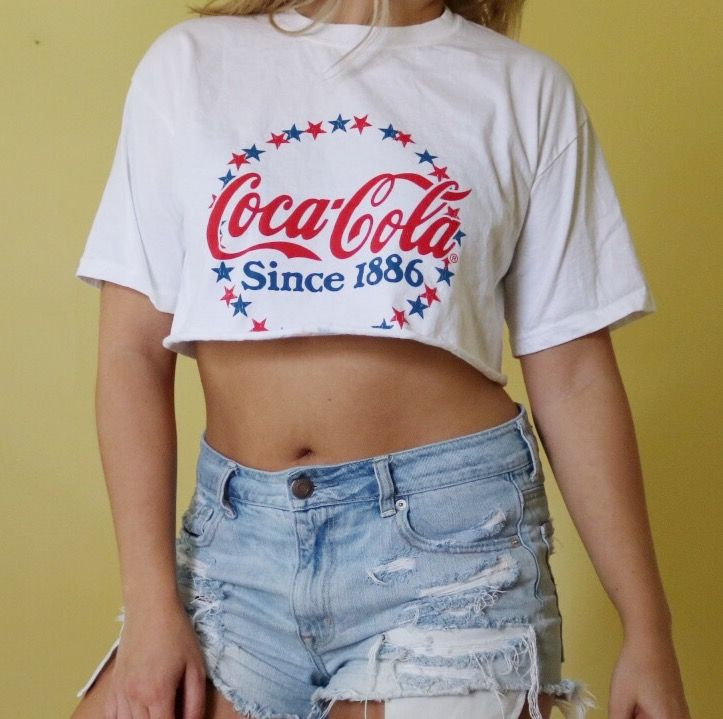 073875b5a1d Coca Cola Crop Top. DIY crop top. Edgy outfit. Edgy fashion. Grunge ...
