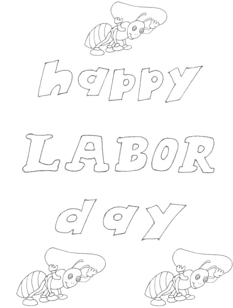 Worksheets Labor Day Worksheets labor day coloring pages printable page for kids 1 india